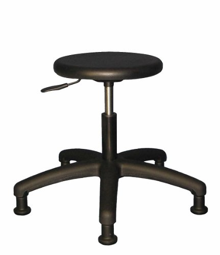 6006S Round Urethane stool/chair- Lab/Cleanroom 12 year Warranty Seat Height 15 1/2