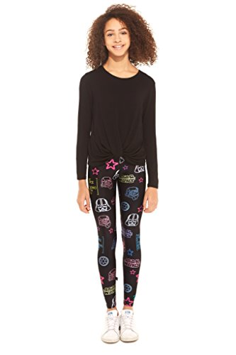 Terez Girls' Little' Printed Legging, Star Wars Eons of Neons, 5
