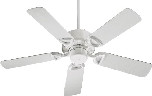 Quorum International 143425-6 Estate Patio Ceiling Fan with White ABS Blades, 42-Inch, Gloss White Finish (Patio Quorum Estate)
