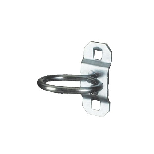 Triton Products 54105 LocHook 1-1/8-Inch Single Ring 1/2-Inch I.D. Zinc Plated Steel Tool Holder for LocBoard, 5-Pack