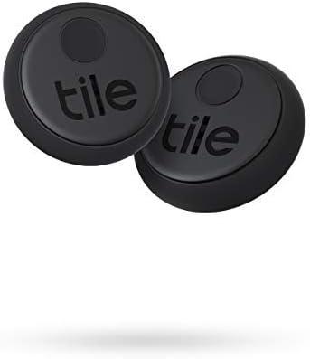 Tile Sticker (2020) Lot de 2 localisateurs d'article Bluetooth, Noir, Portée de...