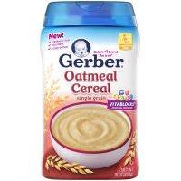 Gerber Organic 1st Food Single Grain Oatmeal Cereal, 16 Ounce - 6 per case.