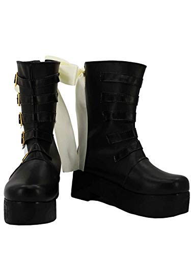 GOTEDDY Women Xiao Long Booties Cosaply Boots Black Leather Bottine Platform Shoes -