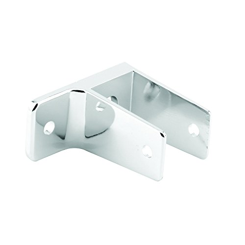 Sentry Supply 656-6395-T T One Ear Wall Bracket, For 1-1/4 In. Panels, Zinc Alloy (Cast Zamak), Chrome Plated Finish, T-27 Torx Fasteners, Qty: (Chrome Wall Bracket Finish)