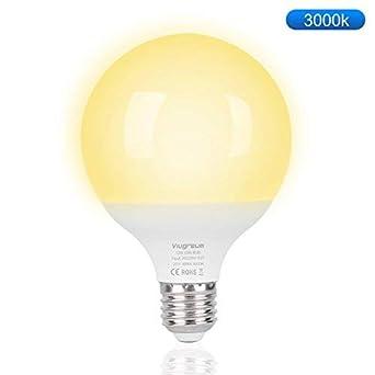 Viugreum Bombilla LED esférica E27, 12 W,equivalente a 100 W, Foco LED Interior 12W,Blanco cálido 3000K, 1000 lúmenes: Amazon.es: Iluminación