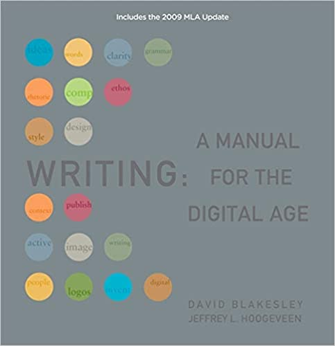 Amazon com: Writing: A Manual for the Digital Age, Comprehensive