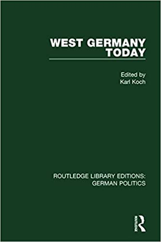 West Germany Today (RLE: German Politics) (Routledge Library
