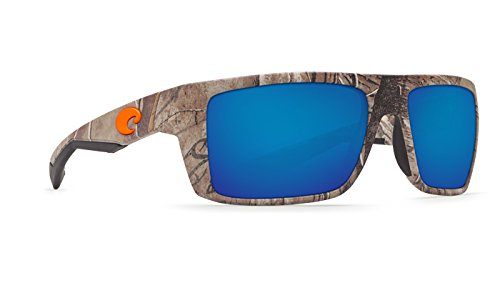 Costa Del Mar Motu Sunglasses, Realtree Xtra Camo, Blue Mirror 580 Glass - Del Camo Mar Costa Glasses