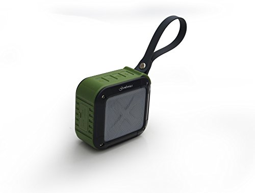 Wireless Bluetooth 4.1 Speaker by Gembonics, Best Shockproof Waterproof Shower Speakers with 10 Hour Rechargeable Battery Life, Powerful