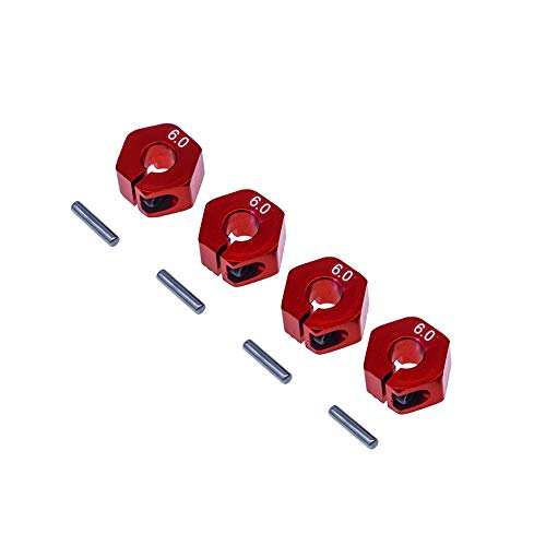 4Pcs Aluminum 12mm hex hubs Wheel adapters 6mm Thickness for 1/10 RC Rc HPI Redcat Traxxas