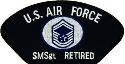 (U.S. Air Force E-8 Senior Master Sergeant Retired Patch (Large))