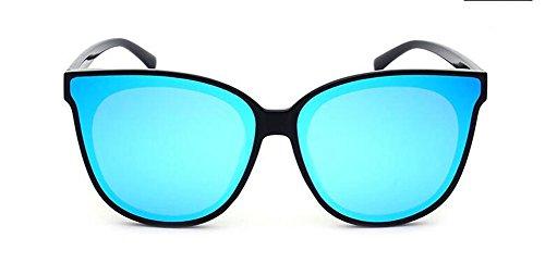 Bleu métallique de style Lennon lunettes du polarisées rond Glacier en soleil vintage inspirées retro cercle FPwwOqC