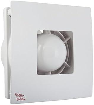 Silber Gl/änzend Bad-L/üfter /Ø 100 Wand-Ventilator Abluft Weiss Silber Vents Atoll 100 HAMMERPREIS