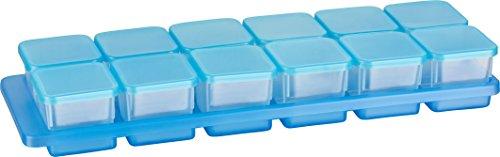 Haushaltsdose Mini-Tiefkühldose 0,03l rechteckig 3,5x3,5x3,3 cm 12er Set mit Halterung