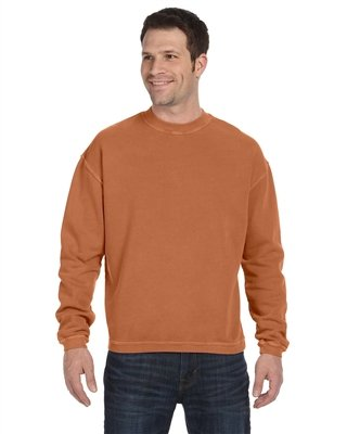 Authentic Pigment 11 Oz. Pigment-Dyed Ringspun Cotton Fleece Crew (11561)- Yam,Small