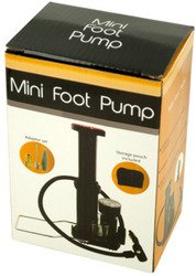 WMU Bicycle Tire Foot Pump with Attachable Bag