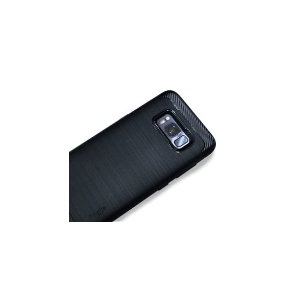 Ringke Onyx Compatible with Galaxy S8 Plus Case PartialUpdated Version Brushed Metal Design Flexible & Slim Dynamic Stroked Pattern Trim Fingerprint Resistant Cover for Galaxy S 8 Plus - Black 6 Heavy duty defense and brushed metal texture layout with a mechanical design complete with Military Grade MIL-STD 810G - 516.6 drop protection. Supports Qi Wireless Charging without the hassle of having to remove the case for Galaxy S8 Plus. Precision-cut TPU profile improves the slim and streamlined appearance with a tough outer flexible protective layer closely contouring each edge and curve of your device. The precise slim fit stays perfect and true to preserve all the premium profile. Highly durable specialized thermoplastic urethane material case is perfectly compatible and secures your device in a comfortable flexible fit for optimized protection against scratches or scrapes. Ultra sturdy yet lightweight, there's no chance in weighing down or bulking up your slim device.