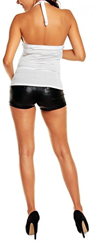 elasticizzato Bianco top shirt maternity Prémaman Mama T 167p Happy jersey Donna URw6YqBWP