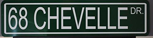 - Motown Automotive Design Metal Street Sign 1968 68 Chevelle Drive 6 x 24