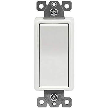 5 pc NEW 4-Way Decorator Switch 4 Way Decora Rocker Switches WHITE