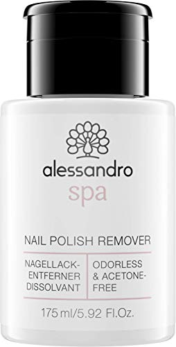 Alessandro Spa Nail Polish Remover Pump Dispenser Odourless and Acetone Free 175 ml (Best Nail Polish Remover Uk)
