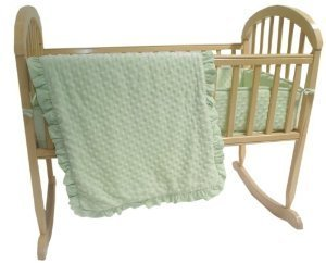 American Baby Company Heavenly Soft Minky Dot 3-Piece Cradle Bedding Set, Celery by American Baby Company