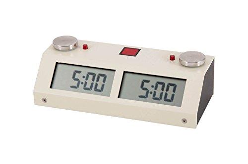 US Chess Federation Chronos GX Digital Game Chess Clock - TOUCH - White