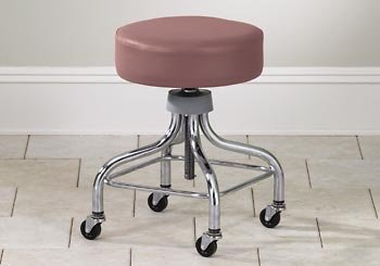 2100 Series Foam (CLINTON VALUE SERIES STOOLS-CLASSIC CHROME Adj chrome stool w/ square footring Item#)