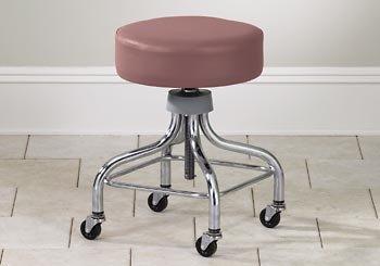 CLINTON VALUE SERIES STOOLS-CLASSIC CHROME Adj chrome stool w/ square footring Item# 2100