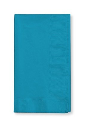 (Creative Converting 50 gorgeous Turquoise Dinner Napkins for Wedding, Party, Bridal or Baby Shower, Disposable Bulk Supply Quality!)