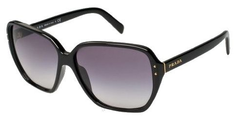 2a691ec8f018c Image Unavailable. Image not available for. Color  Prada Sunglasses Pr 16Ms  1Ab3M1 Gloss Black Gray Gradient