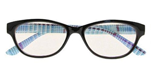 Blue Light Blocking,Reduce Eyestrain,Cat Eye,Computer Ipads Gaming Reading Glasses(Blue,Amber Tinted Lenses) +1.75 (Electromagnetic Cat)