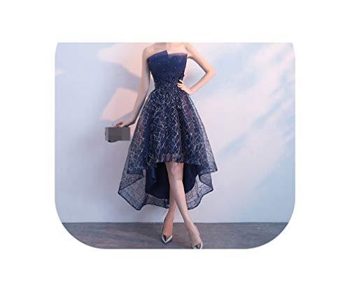 Elegant Formal Evening Dress Off The Shoulder Red Carpet Party Dress Short Dresses,Navy Blue,12 -