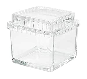 Glass box with lid, clear glass