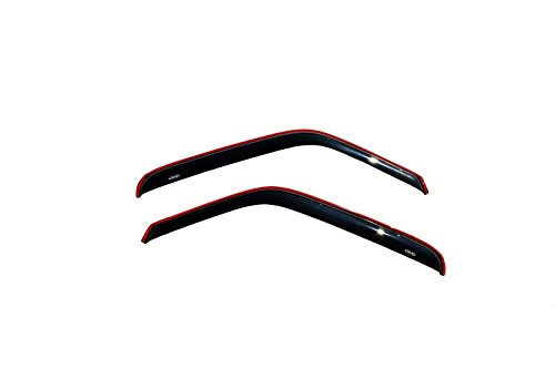 Auto Ventshade 192083 in-Channel Ventvisor Side Window Deflector, 2-Piece Set for 1999-2011 Ford Ranger w/Fixed Window, 1999-2008 B3000, 1999-2010 B4000 with Extended Cab
