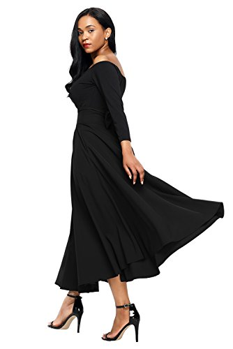 Dos Length Ligne Haute Skirt Line Mid Bow Ceinture Wide Full Zipp A Plisse Zip Une Longue Patineuse A Noir Nouer vase Calf Patineur Midi Mi Jupe Bowknot Ceintureband Ligne H8qnTrZH