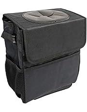 ValueHall CarTrashCan Foldable Waterproof Trash Bin Hanging Garbage Bag with Lid and Side Pockets V7077
