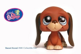 Littlest Pet Shop Basset Hound #808