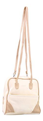 Damen Rucksack in Creme mit Beige abgesetzt - Alessandro Salvatore Collection