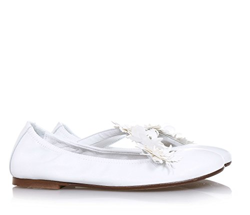 ELI Weiße Ballerina Aus Leder Handgemacht in ... Spanien Geeignet für ... in 894257