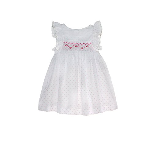 Pin Dot Smocked Angel-Sleeve Dress - Infant, Toddler & Girls -