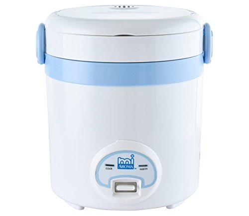 Aroma Housewares Mrc 903Bl 3 Cup Cooked  1 5 Cup Uncooked Cool Touch Mini Rice Cooker   Multicooker