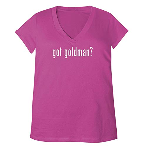 got Goldman? - Adult Bella + Canvas B6035 Women's V-Neck T-Shirt, Fuchsia, Medium