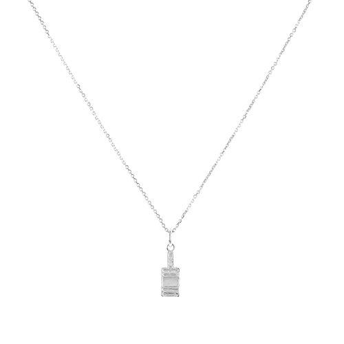 "Sterling Silver Hot Sauce Bottle Pendant Necklace, 18"""
