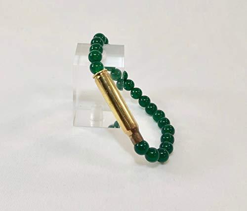 Green Agate 223 Caliber Bullet Bracelet ()