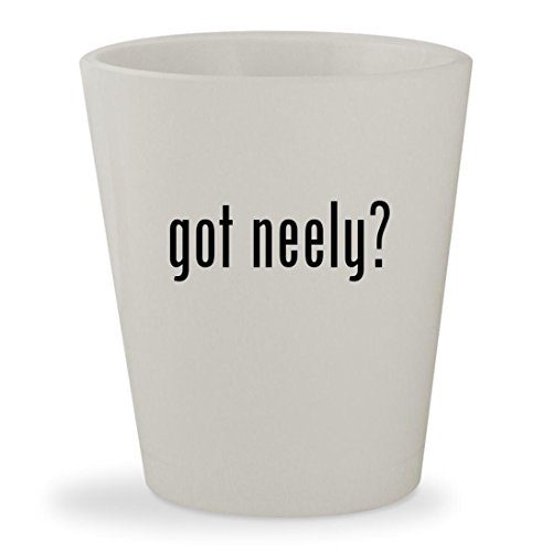 got neely? - White Ceramic 1.5oz Shot Glass (Neelys Salt Pig)