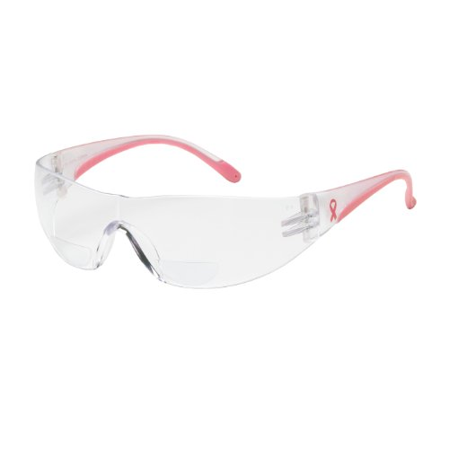 Lady Eva 250-12-0175 Rimless Safety Readers with Clear/Pink