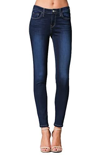 - Flying Monkey Agave Mid Rise Dark Wash Super Soft Skinny Jeans Y2749 (28)