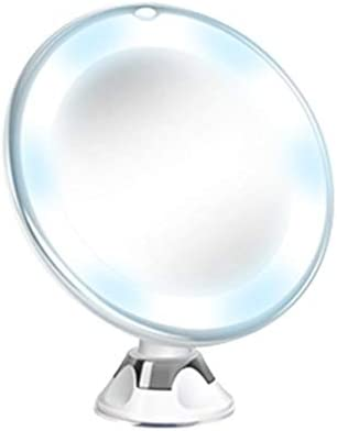 MChoice❤️Flexible Mirror Lighted 10X Magnifying Makeup Mirror Power Locking Suction Cup