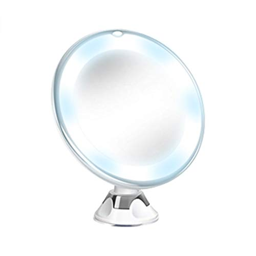 - LiboboFlexible Mirror Lighted 10X Magnifying Makeup Mirror Power Locking Suction Cup (White)